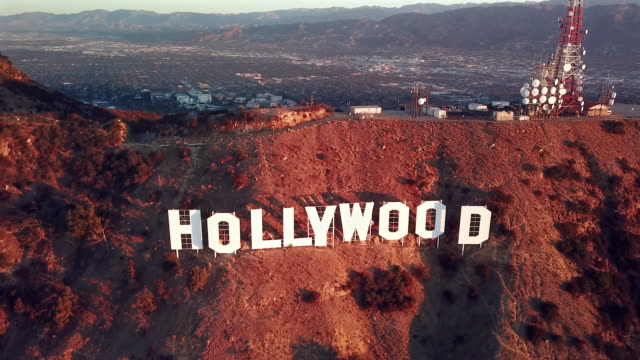 Aerial Pan: Hollywood Sign And Los Angeles