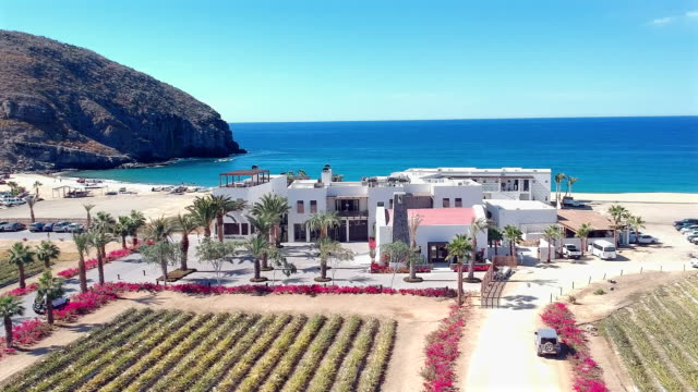 aerial pan view of pleasant architecture in mexico - baja california peninsula stock videos & royalty-free footage