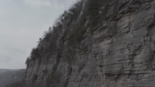 aerial panning across cliff - new paltz ny stock videos and b-roll footage
