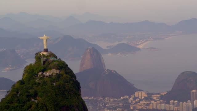 Aerial panorama of Rio, Christ statue