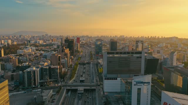 aerial panoramic view of san isidro financial district in lima, peru. - peru stock videos & royalty-free footage