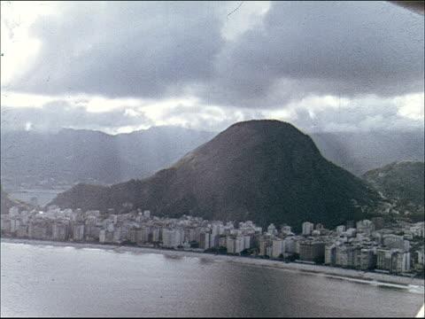 1955 Aerial PANs over Rio De Janeiro