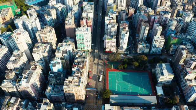 aerial perspective of hong kong, china - crisis stock videos & royalty-free footage