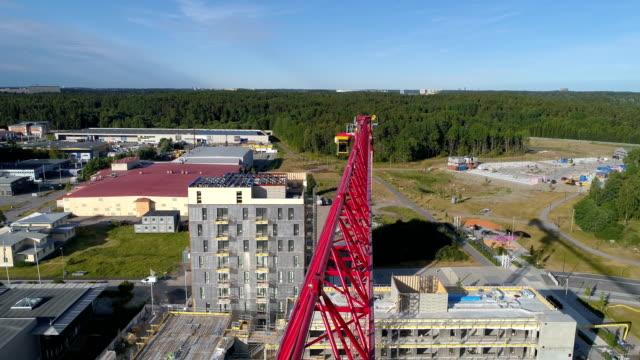Flygfoto av byggarbetsplats