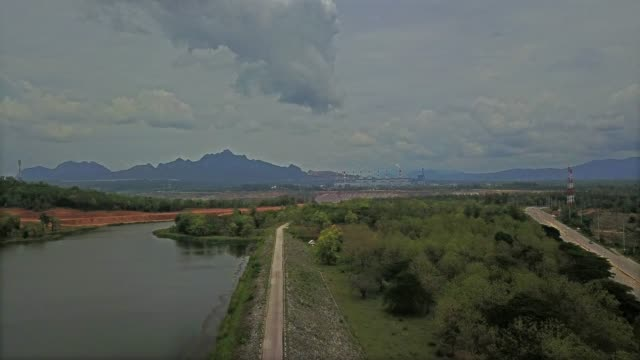 Luftaufnahmen, See, Feld, Dorf