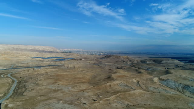 aerial photography- of jericho in the jordan valley, israel - palestinian territories stock videos and b-roll footage