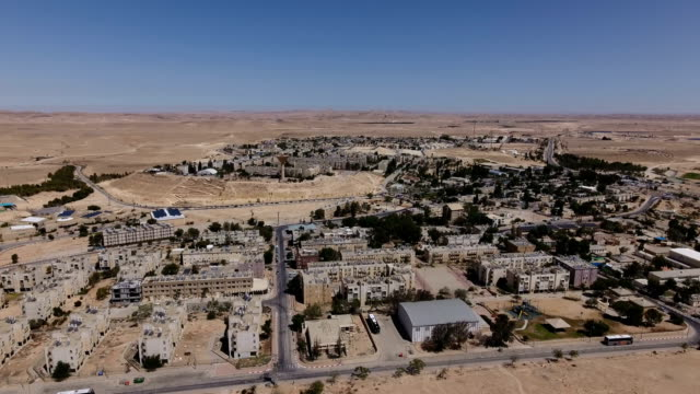 Aerial photography of Mitzpe Ramon- a city in the Negev Desert