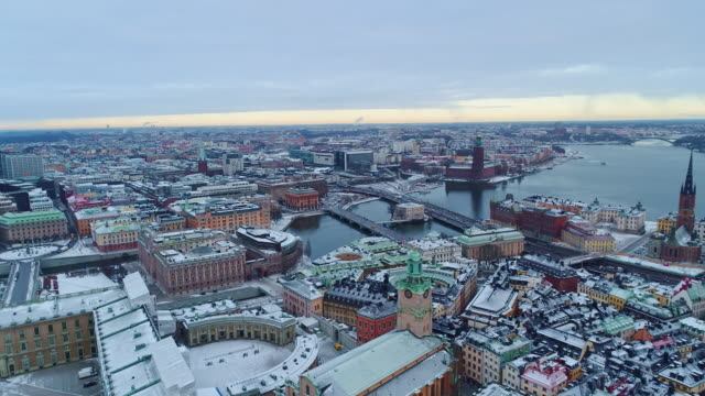 aerial photography of rural stockholm - sweden stock videos & royalty-free footage