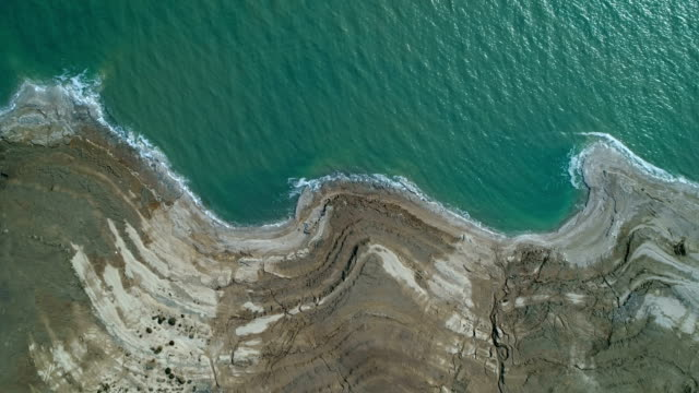 Aerial photography- the Dead Sea and its salt beaches