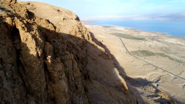 Aerial photography- The Dead Sea and Judean Desert's cliffs
