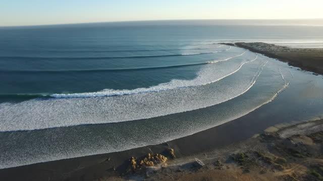 aerial point break waves baja - baja california peninsula stock videos and b-roll footage