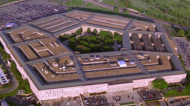 aerial point of view around pentagon building / arlington, virginia, near washington d.c. - the pentagon stock videos & royalty-free footage