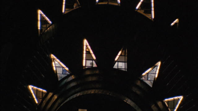 aerial point of view around windows of chrysler building w/people inside - chrysler building stock videos & royalty-free footage