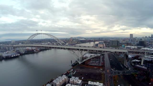 空から見たポートランド nw - portland oregon点の映像素材/bロール