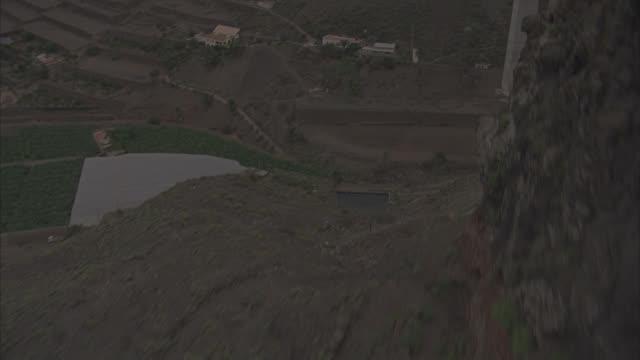 stockvideo's en b-roll-footage met aerial puente de silva/cuesta da sailva viaduct bridge, eenerife, canary isla - puente