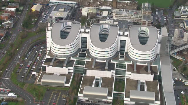 "aerial queen elizabeth hospital in birmingham during coronavirus pandemic - ""bbc news"" stock videos & royalty-free footage"