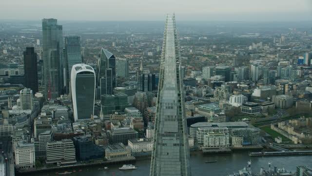 aerial quiet city millions furloughed coronavirus lockdown england - finance stock videos & royalty-free footage