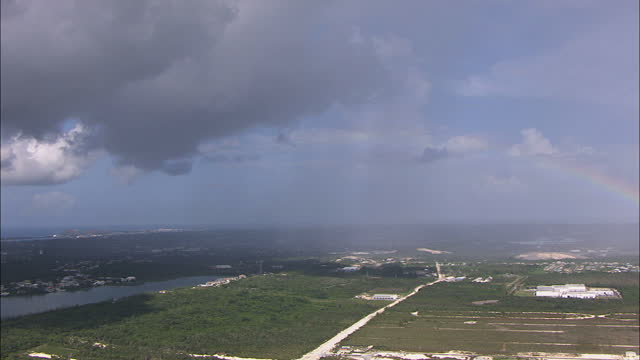 aerial rainbow view of nassau in the bahamas - bahamas stock videos & royalty-free footage