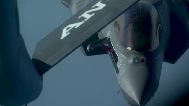 Aerial refueling of F35B Lightning II above Qatar