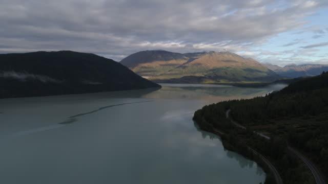 Aerial Reveal over Kenai Lake, Alaska