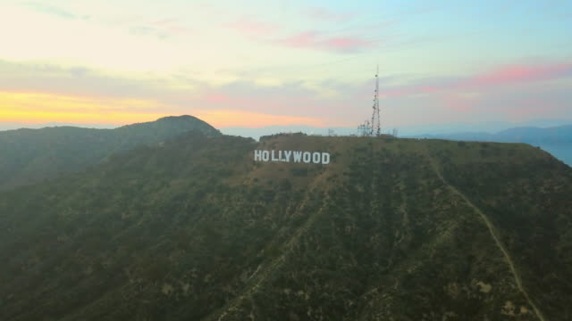 Aerial Right to Left: Perfect Hollywood Sign