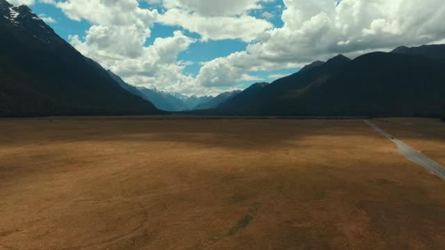 Aerial Straße in Neuseeland