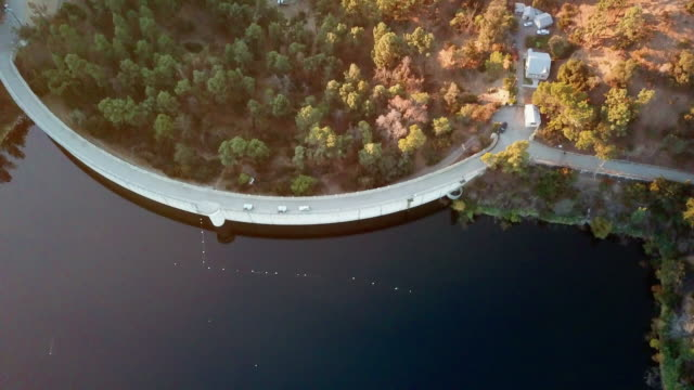 Aerial: Road On The Hollywood Dam