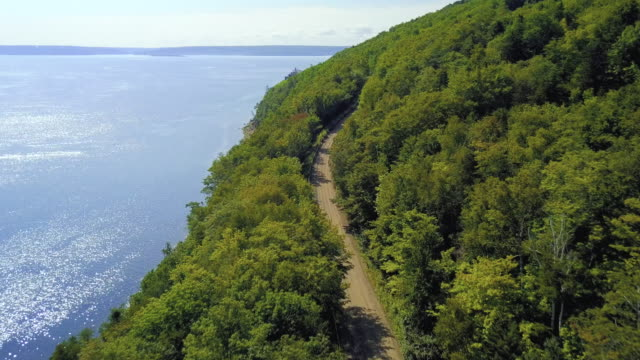 aerial road trip - coastline stock videos & royalty-free footage