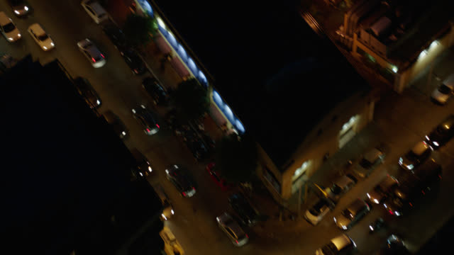 aerial rome, italy rooftops - night - roman stock videos & royalty-free footage