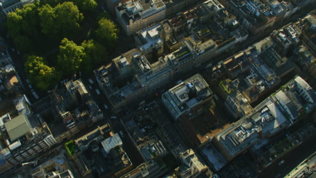aerial rooftop view and london city skyline england - twilight stock videos & royalty-free footage