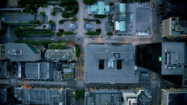 aerial rooftop view downtown vancouver british columbia canada - vancouver canada stock videos & royalty-free footage