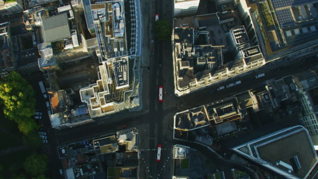 aerial rooftop view oxford street at sunrise london - twilight stock videos & royalty-free footage