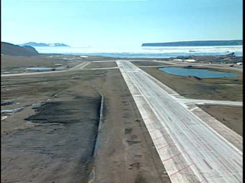 aerial runways at thule air base, greenland - military base stock videos & royalty-free footage