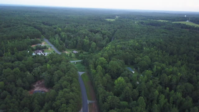 aerial, rural georgia environment - georgia country stock videos and b-roll footage
