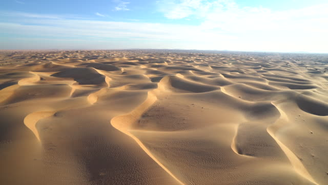 aerial sand dunes - arid climate stock videos & royalty-free footage