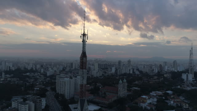 aerial - sao paulo - mast stock videos & royalty-free footage