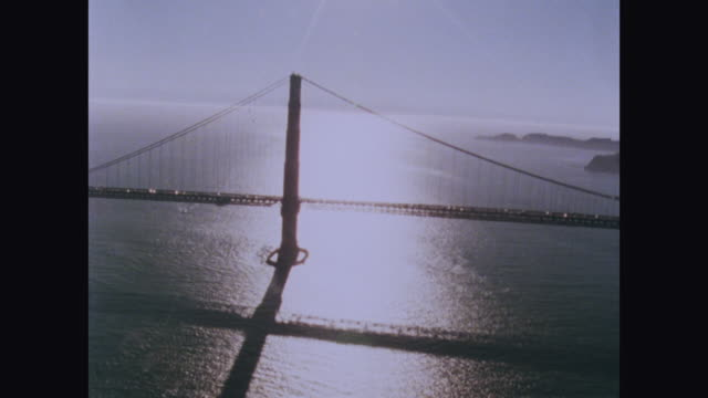 aerial sequence of golden gate bridge; 1979 - 1970 1979 stock videos & royalty-free footage