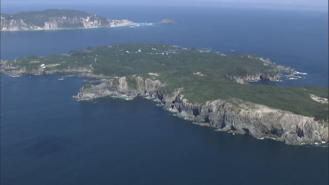 aerial shikinejima island - satoyama scenery stock videos and b-roll footage