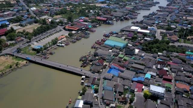 Aerial shoot: Rayong Estuary , Thailand