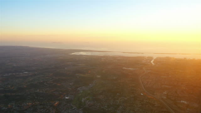 Aerial shot above California in 4K