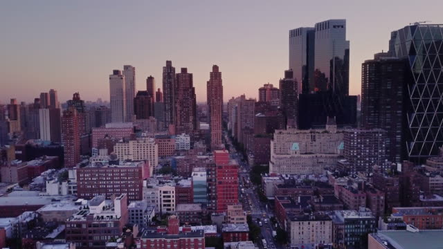 Aerial Shot Above Midtown Manhattan