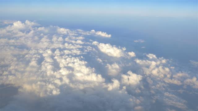 空中ショットの上の雲を 4 K