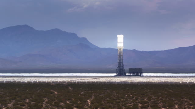 Aerial Shot Approaching Ivanpah Solar Facility