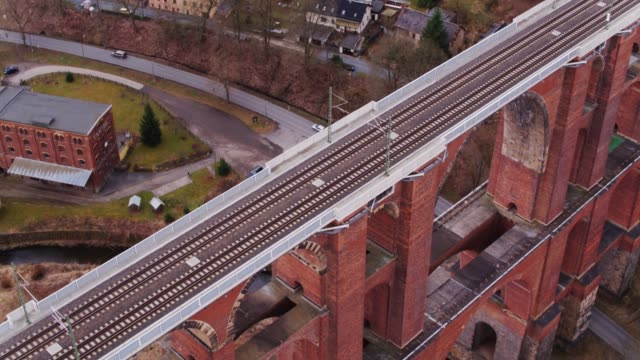 Aerial Shot Approaching the Göltzsch Viaduct