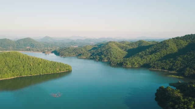 aerial shot : beauty in nature at loei province, thailand - realisticfilm stock videos and b-roll footage