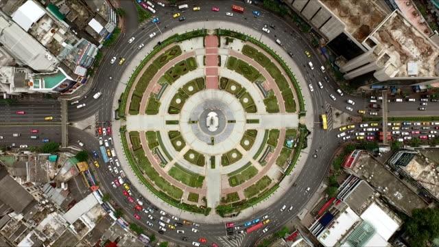 Luchtfoto shot cirkel straat