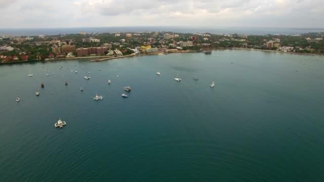 aerial shot: dar es salam msasani bay - tanzania stock videos & royalty-free footage