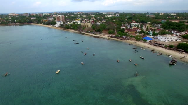 aerial shot: dar es salam msasani bay - tanzania stock videos & royalty-free footage