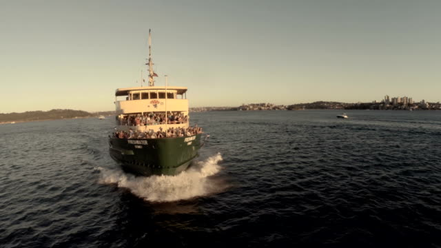 Aerial shot Manly Ferry Sydney