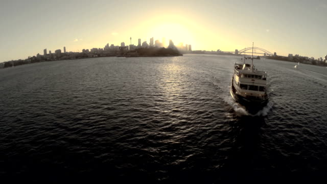 Aerial shot Manly Ferry Sydney